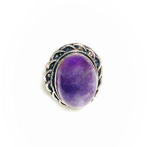 Amethyst Gemstone (Lab-Created) Ring